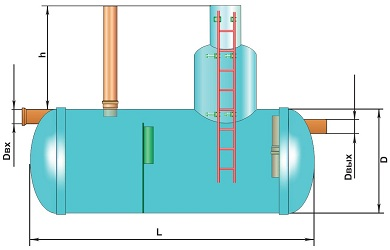 Горизонтальный жироуловитель 20 л/сек