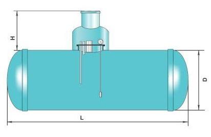 Схема топливной емкости