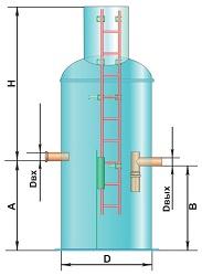 Вертикальный жироуловитель 7 л/сек